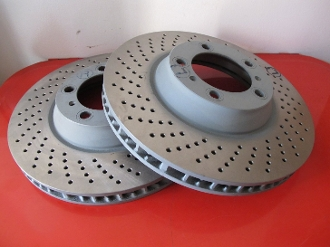 Front Brake Rotors - 996 Late GT3 Cup