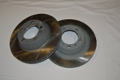 Rear Brake Rotors - 996 Late GT3 Cup - Slotted