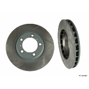 Front Brake Rotors - Porsche 996 Turbo/ 997 Carrera S - Slotted
